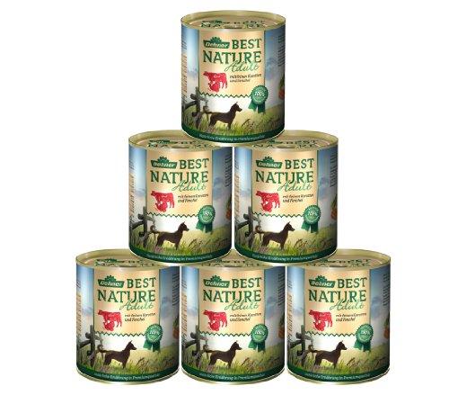 Dehner Best Nature Hundefutter, Adult Rind, Pute mit feinen Karotten und Fenchel, 6 x 800 g (4.8 kg)