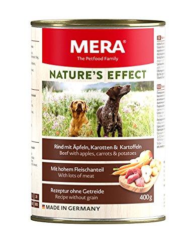 MERA NATURE´S EFFECT Nassfutter, Getreidefreies Premium Hundefutter mit Wildschwein, Ente oder Rind – 6er Pack
