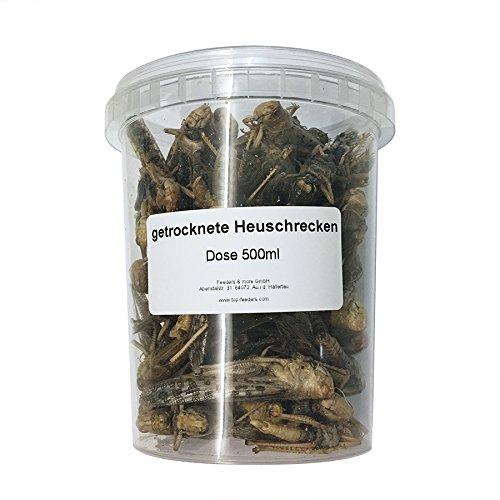 500ml Heuschrecken getrocknet Futterinsekten Reptilienfutter Fischfutter Igelfutter Nagerfutter