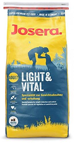 JOSERA Light & Vital (1 x 15 kg)   Hundefutter mit niedrigem Fettgehalt   Super Premium Trockenfutter für ausgewachsene Hunde   1er Pack