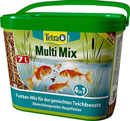 Tetra Pond MultiMix, Hauptfutter-Mischung aus vier Futtersorten für unterschiedliche Teichfischarten, 7L Eimer, 1 x 7 Liter