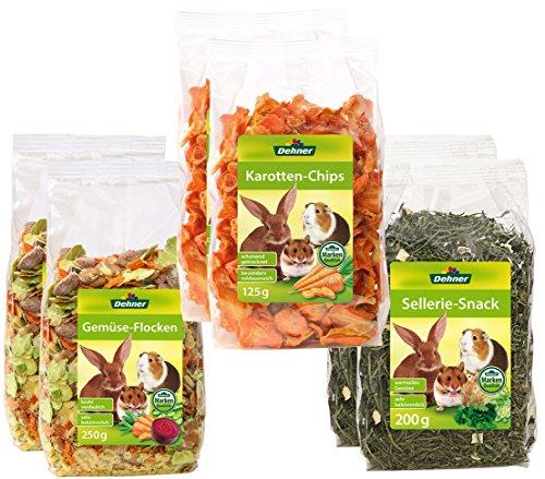 Dehner Nagersnack Gemüse Mix, je 2 x Gemüse-, Karotte- und Selleriesnack (1150 g)