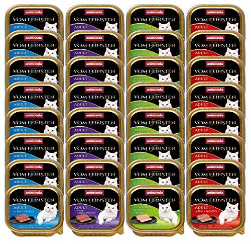 animonda Vom Feinsten Adult Katzenfutter, Nassfutter für ausgewachsene Katzen, Fisch und Fleisch Mix, 32 x 100 g