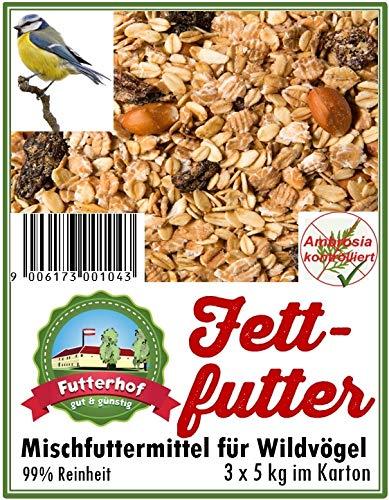Futterhof Fettfutter 3 x 5 kg = 15 kg