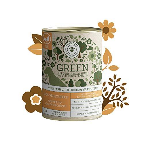 Hundefutter nass auf Insekten-Basis 2,4 kg – 6er-Pack | Hüttenkäse, Zucchini, Quinoa und Spinat | Nassfutter für Hunde ohne Fleisch | nachhaltige Protein-Quelle, entlastet CO²-Bilanz | getreidefrei