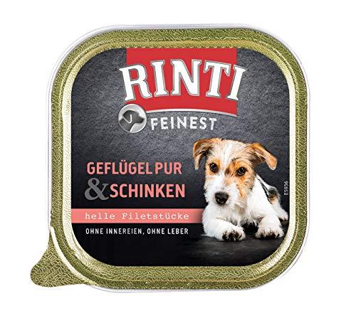 Rinti Feinest Geflügel & Schinken für Hundesenioren, 11er Pack (11 x 150 g)