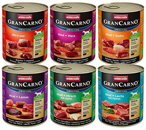 animonda Gran Carno adult Hundefutter, Nassfutter für erwachsene Hunde, Mix1, 6 x 800 g